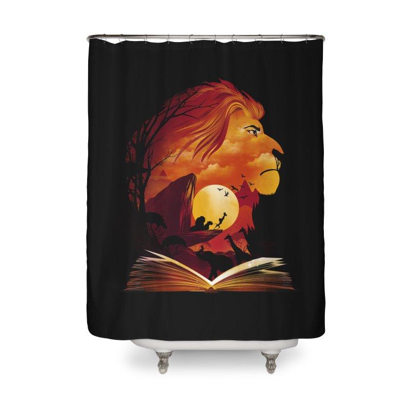 Book of Pride Rock Home Shower Curtain by dandingeroz's Artist Shop