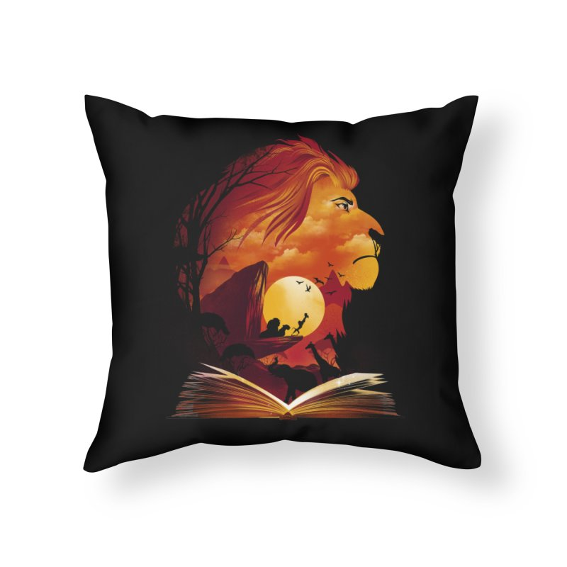 Book of Pride Rock Home Throw Pillow by dandingeroz's Artist Shop