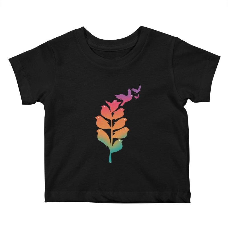 Flying High Kids Baby T-Shirt by dandingeroz's Artist Shop