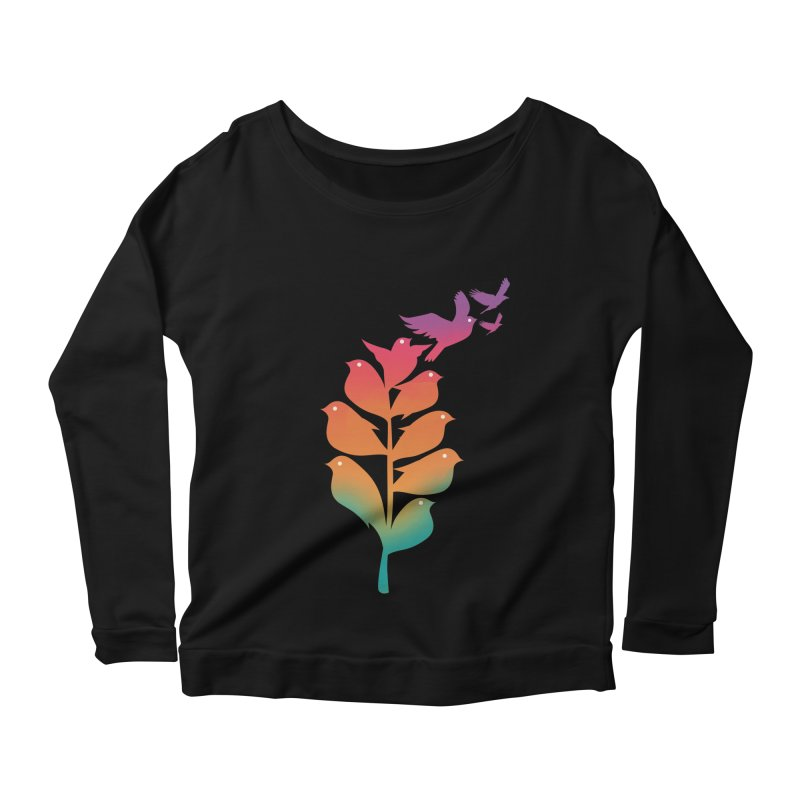 Flying High Women's Scoop Neck Longsleeve T-Shirt by dandingeroz's Artist Shop