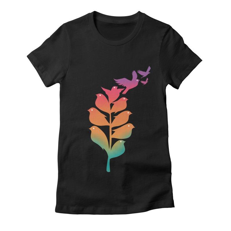 Flying High Women's Fitted T-Shirt by dandingeroz's Artist Shop