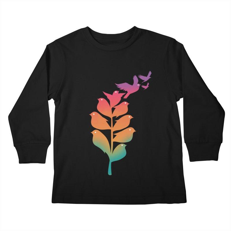 Flying High Kids Longsleeve T-Shirt by dandingeroz's Artist Shop