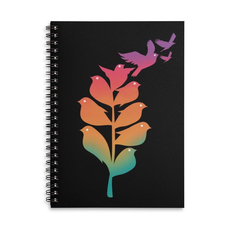 Flying High Accessories Lined Spiral Notebook by dandingeroz's Artist Shop