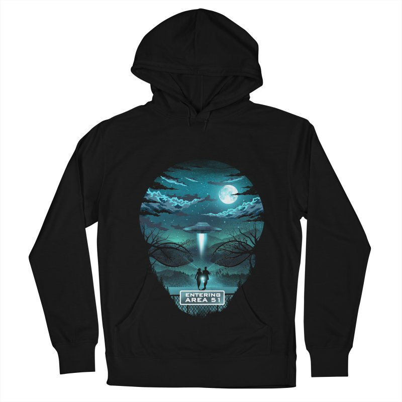 Welcome to Area51 Men's French Terry Pullover Hoody by dandingeroz's Artist Shop