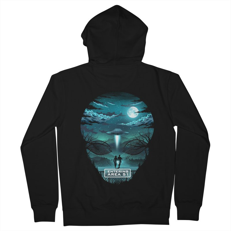 Welcome to Area51 Women's French Terry Zip-Up Hoody by dandingeroz's Artist Shop