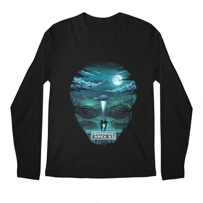Welcome to Area51 Men's Regular Longsleeve T-Shirt by dandingeroz's Artist Shop