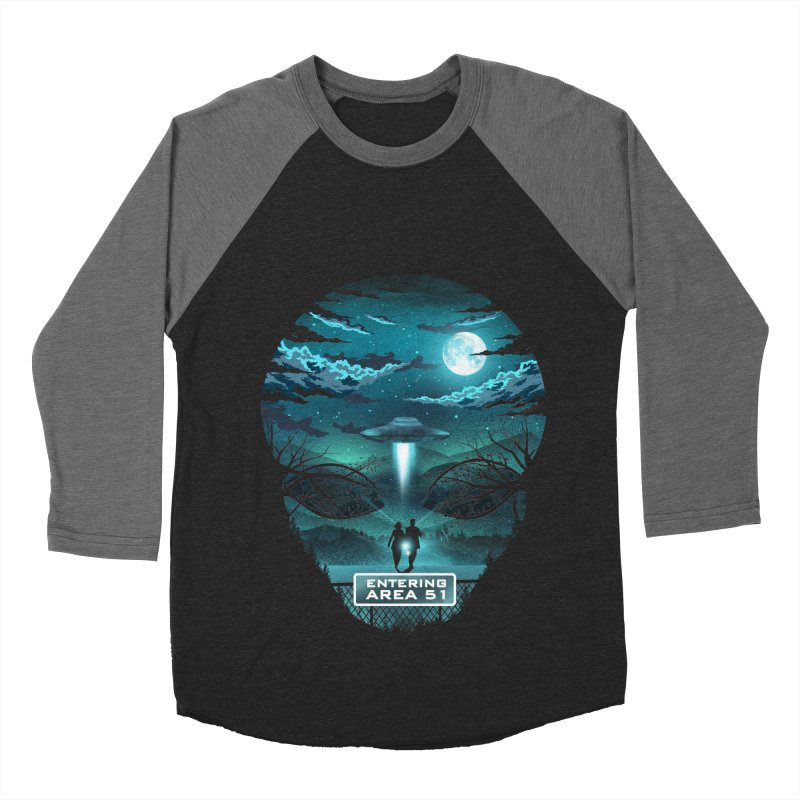 Welcome to Area51 Women's Baseball Triblend Longsleeve T-Shirt by dandingeroz's Artist Shop