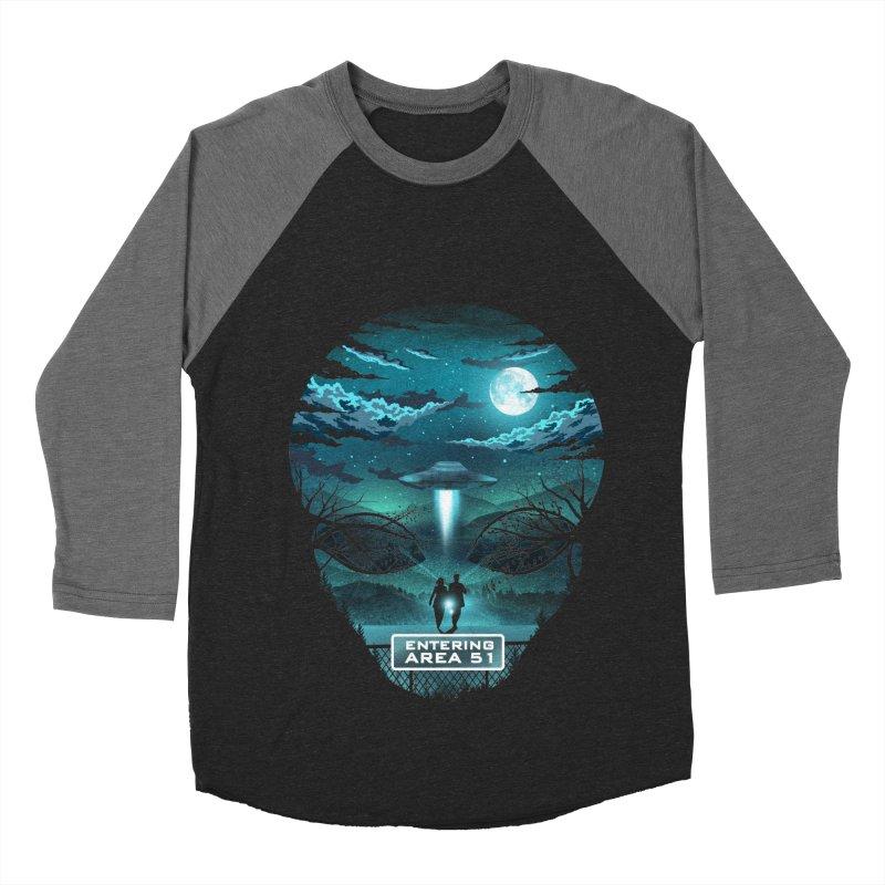 Welcome to Area51 Men's Baseball Triblend Longsleeve T-Shirt by dandingeroz's Artist Shop