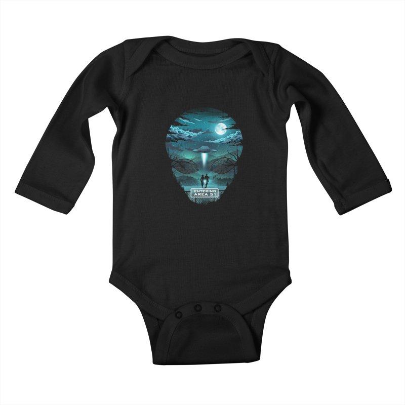 Welcome to Area51 Kids Baby Longsleeve Bodysuit by dandingeroz's Artist Shop