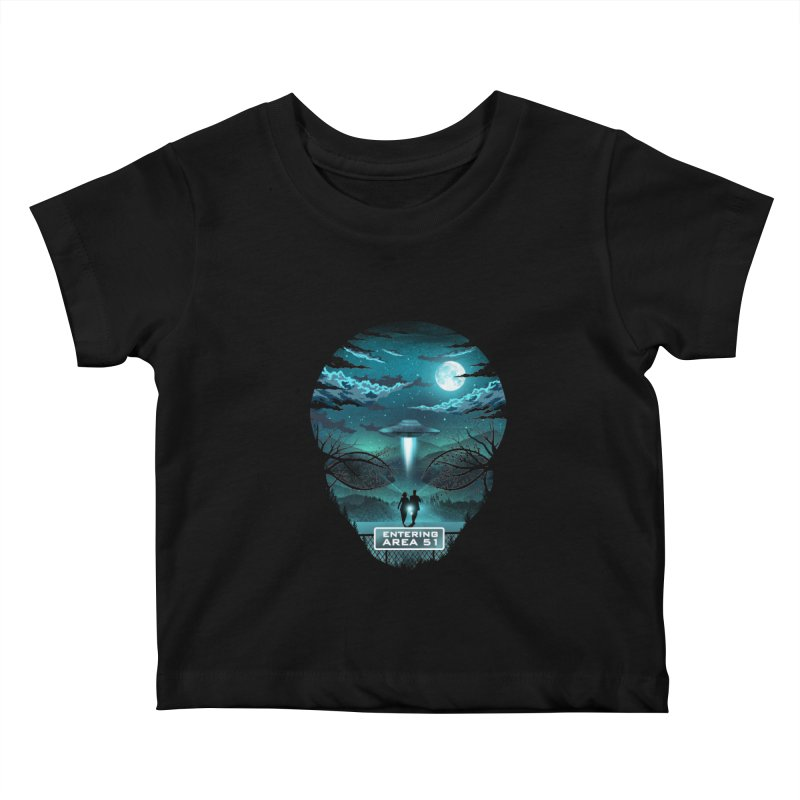 Welcome to Area51 Kids Baby T-Shirt by dandingeroz's Artist Shop