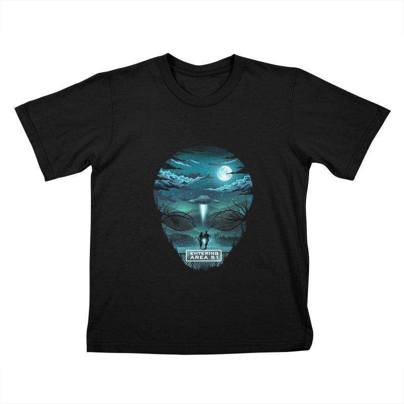 Welcome to Area51 Kids T-Shirt by dandingeroz's Artist Shop