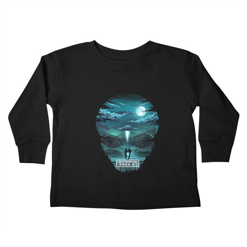 Welcome to Area51 Kids Toddler Longsleeve T-Shirt by dandingeroz's Artist Shop