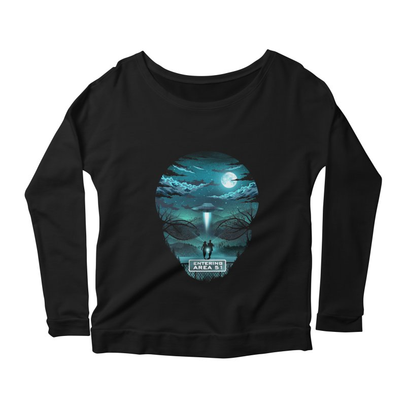 Welcome to Area51 Women's Scoop Neck Longsleeve T-Shirt by dandingeroz's Artist Shop