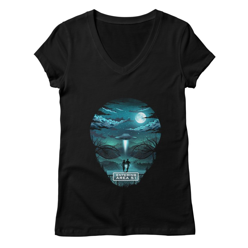 Welcome to Area51 Women's Regular V-Neck by dandingeroz's Artist Shop