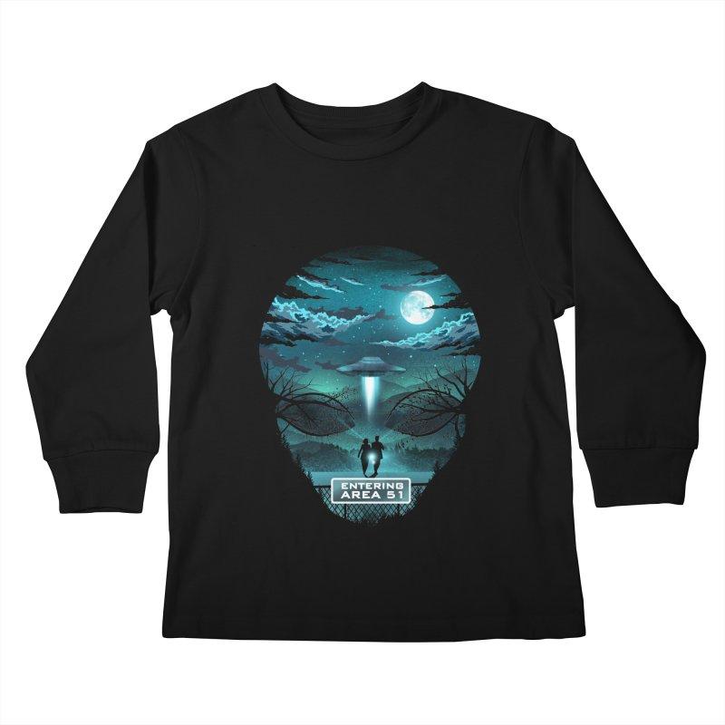 Welcome to Area51 Kids Longsleeve T-Shirt by dandingeroz's Artist Shop