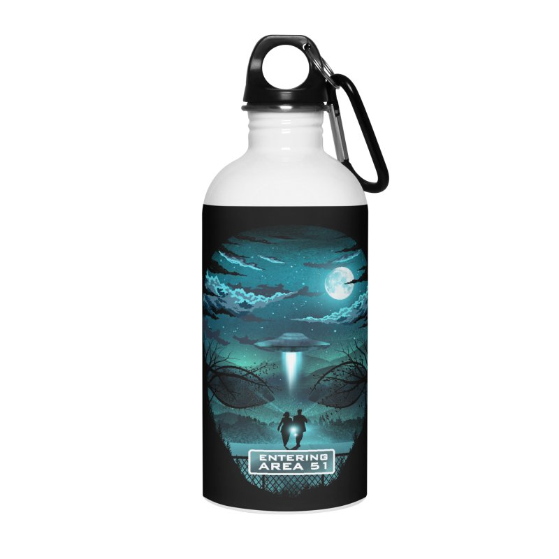Welcome to Area51 Accessories Water Bottle by dandingeroz's Artist Shop