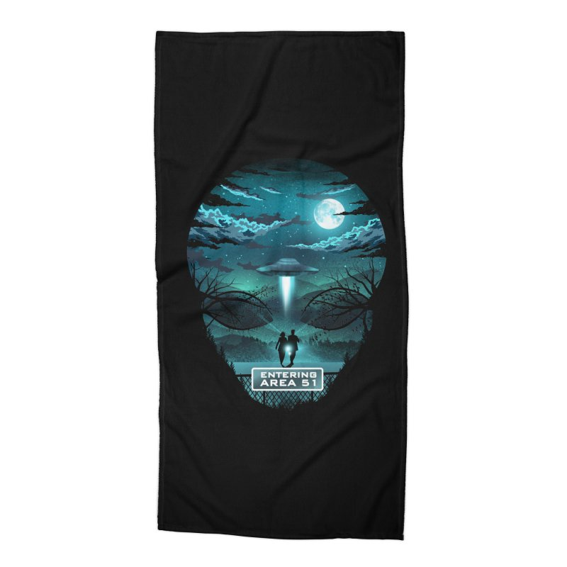 Welcome to Area51 Accessories Beach Towel by dandingeroz's Artist Shop