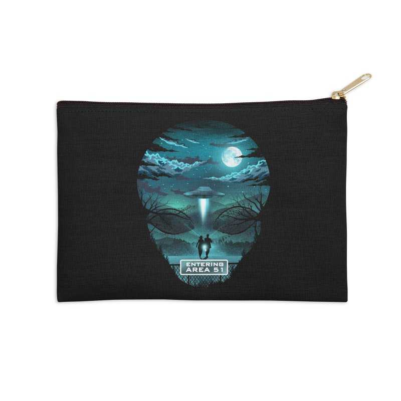 Welcome to Area51 Accessories Zip Pouch by dandingeroz's Artist Shop