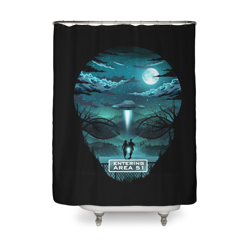 Welcome to Area51 Home Shower Curtain by dandingeroz's Artist Shop