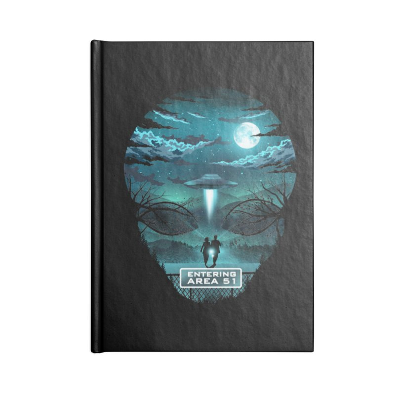 Welcome to Area51 Accessories Blank Journal Notebook by dandingeroz's Artist Shop
