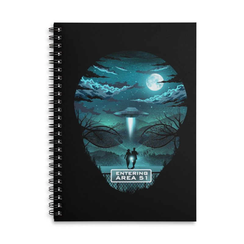 Welcome to Area51 Accessories Lined Spiral Notebook by dandingeroz's Artist Shop