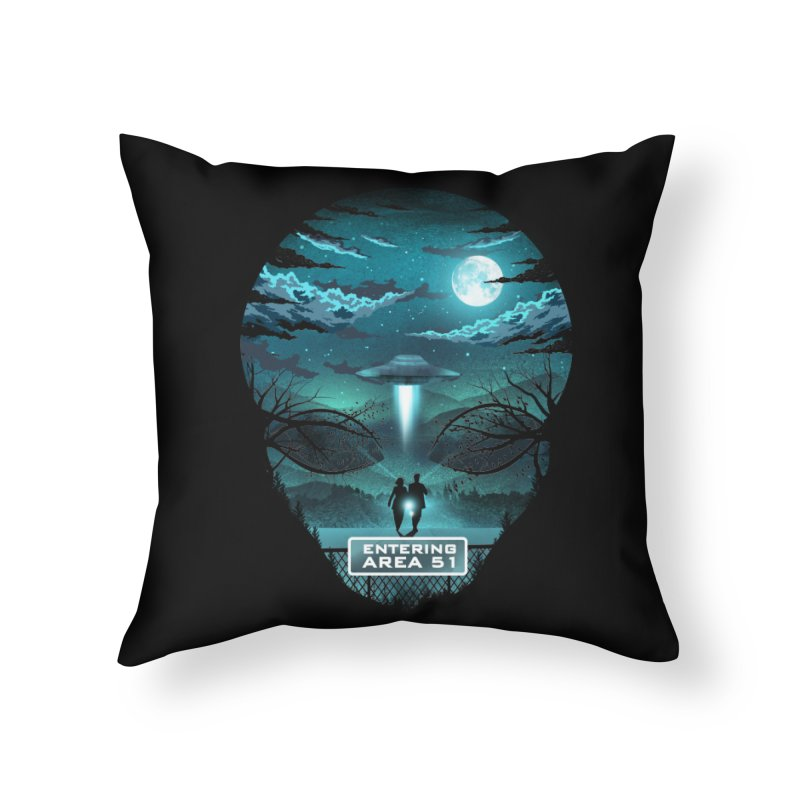 Welcome to Area51 Home Throw Pillow by dandingeroz's Artist Shop