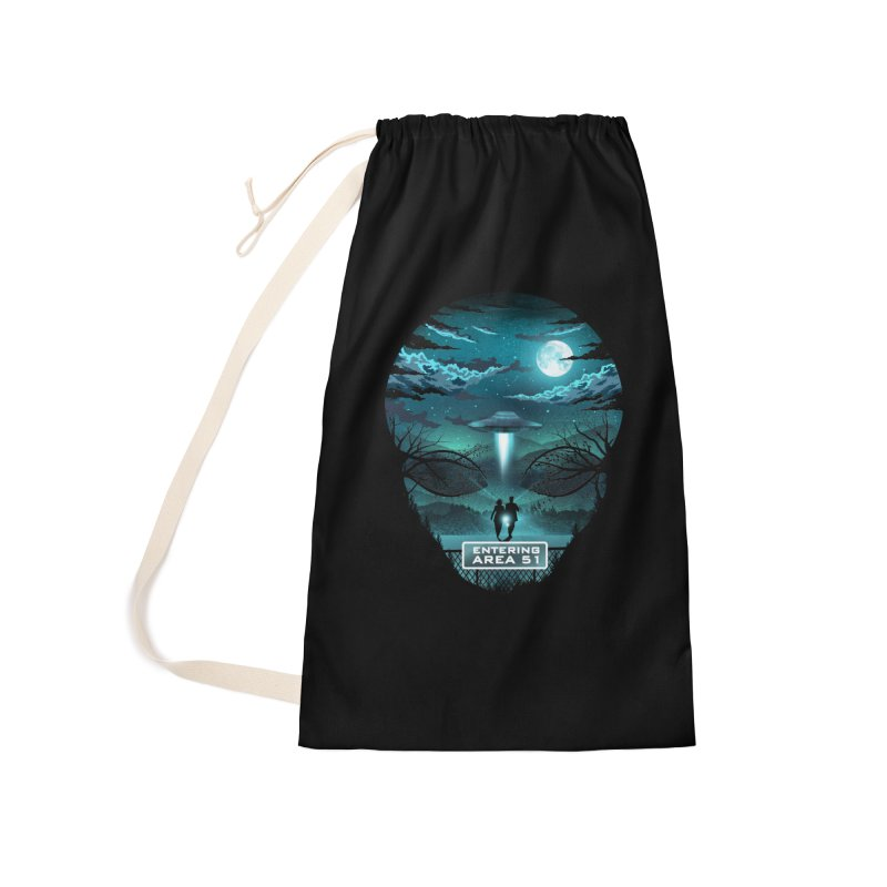 Welcome to Area51 Accessories Laundry Bag Bag by dandingeroz's Artist Shop