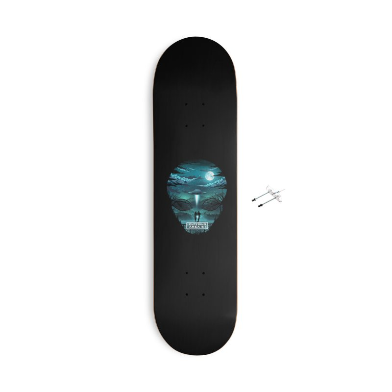 Welcome to Area51 Accessories With Hanging Hardware Skateboard by dandingeroz's Artist Shop