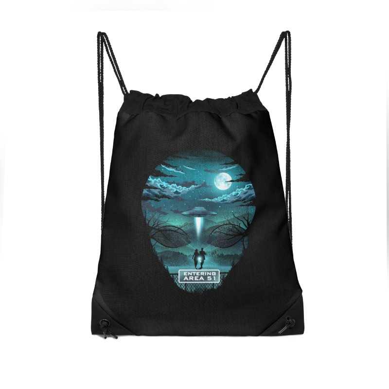 Welcome to Area51 Accessories Drawstring Bag Bag by dandingeroz's Artist Shop