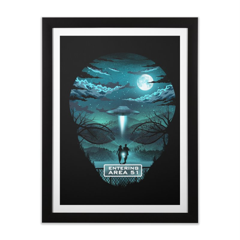 Welcome to Area51 Home Framed Fine Art Print by dandingeroz's Artist Shop