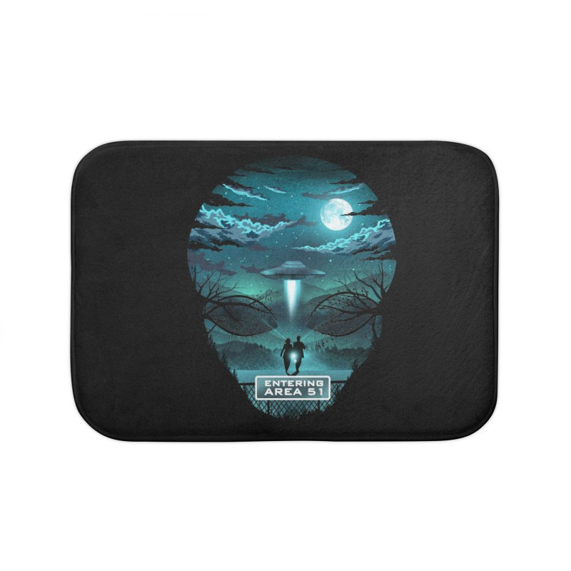 Welcome to Area51 Home Bath Mat by dandingeroz's Artist Shop