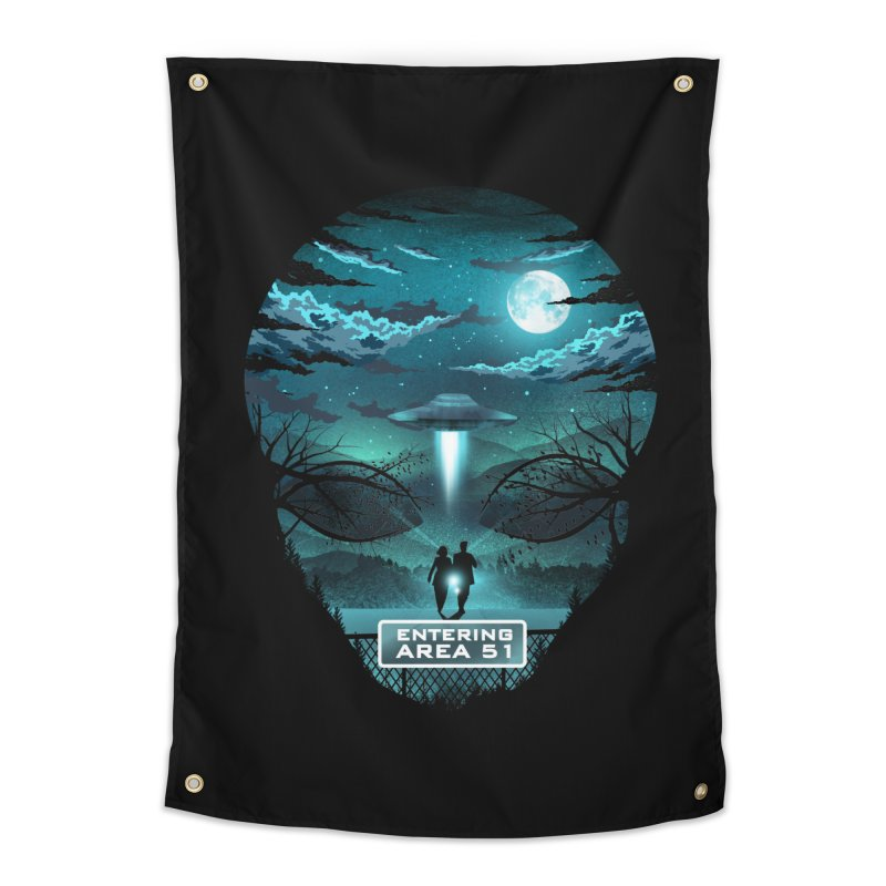 Welcome to Area51 Home Tapestry by dandingeroz's Artist Shop