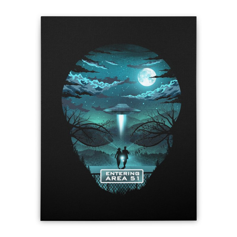 Welcome to Area51 Home Stretched Canvas by dandingeroz's Artist Shop