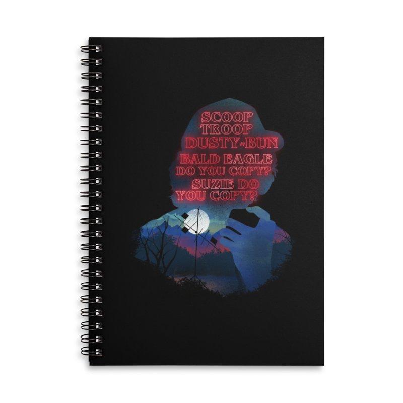 Scoops Trrop Dusty-bun Accessories Lined Spiral Notebook by dandingeroz's Artist Shop