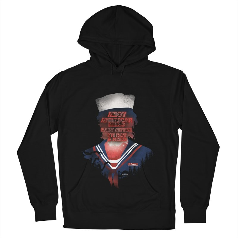 Scoops Troop Steve Men's French Terry Pullover Hoody by dandingeroz's Artist Shop