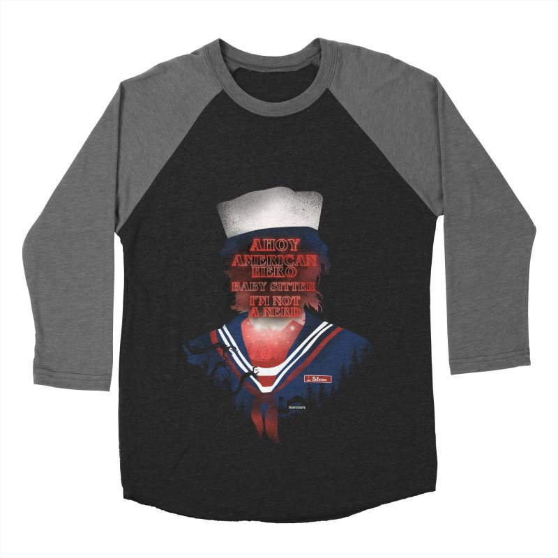 Scoops Troop Steve Men's Baseball Triblend Longsleeve T-Shirt by dandingeroz's Artist Shop