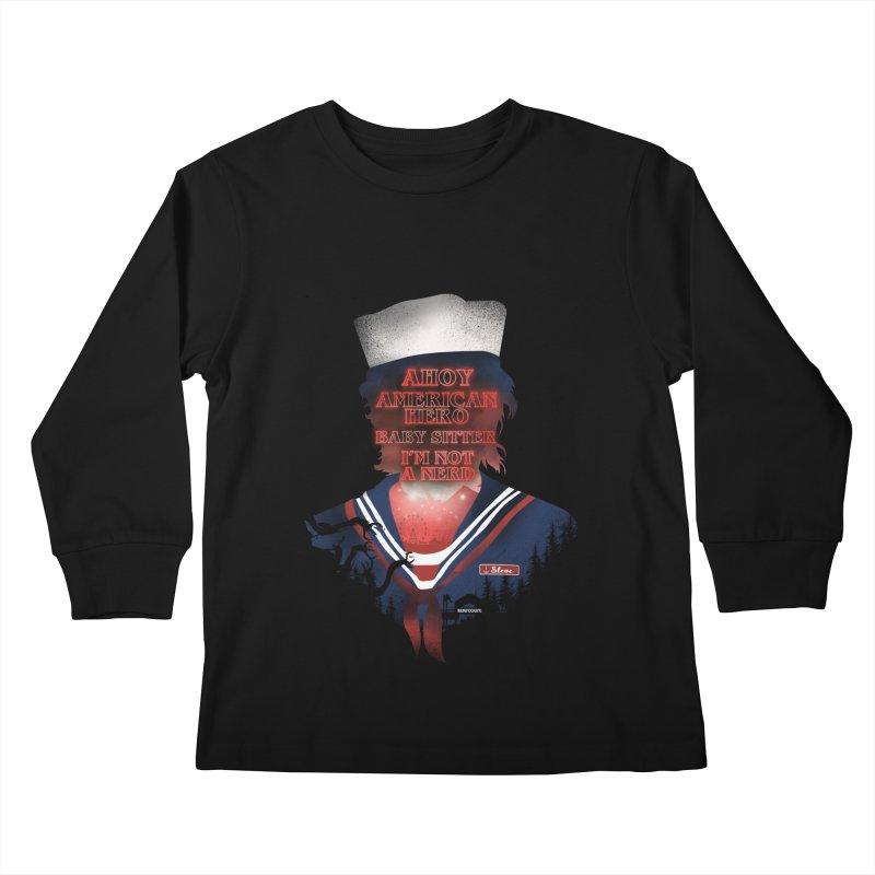 Scoops Troop Steve Kids Longsleeve T-Shirt by dandingeroz's Artist Shop