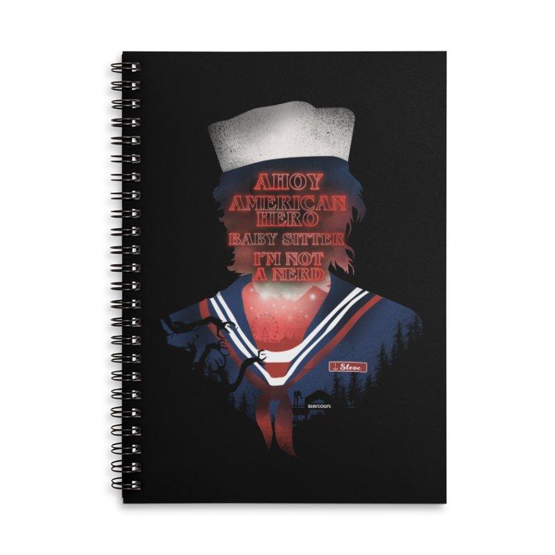 Scoops Troop Steve Accessories Lined Spiral Notebook by dandingeroz's Artist Shop