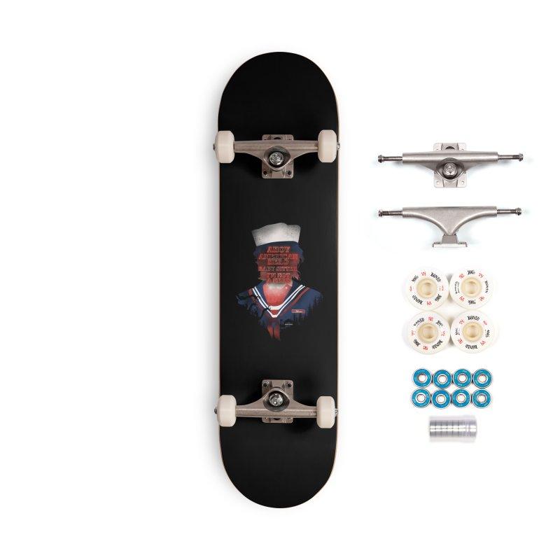 Scoops Troop Steve Accessories Complete - Premium Skateboard by dandingeroz's Artist Shop