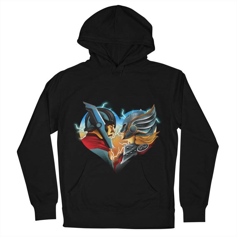 Love & Thunder Men's French Terry Pullover Hoody by dandingeroz's Artist Shop
