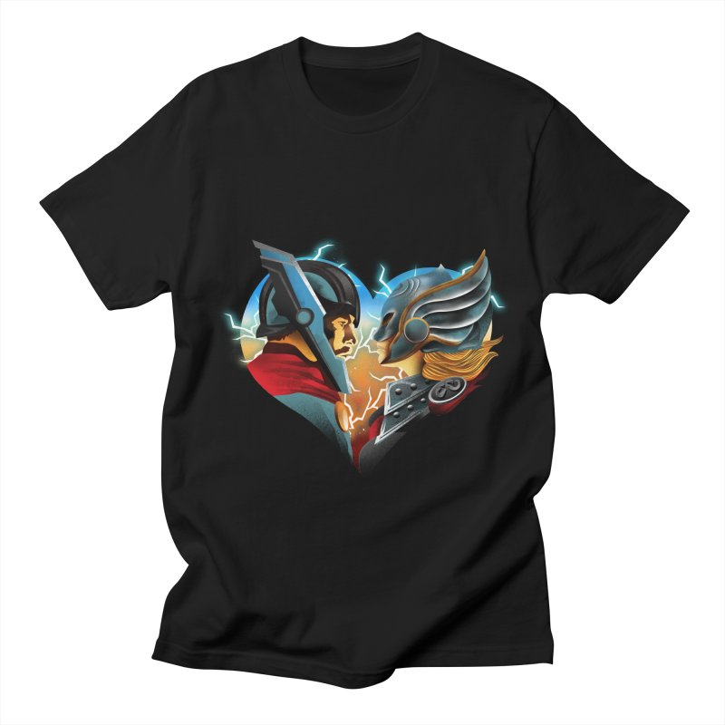 Love & Thunder Women's Regular Unisex T-Shirt by dandingeroz's Artist Shop