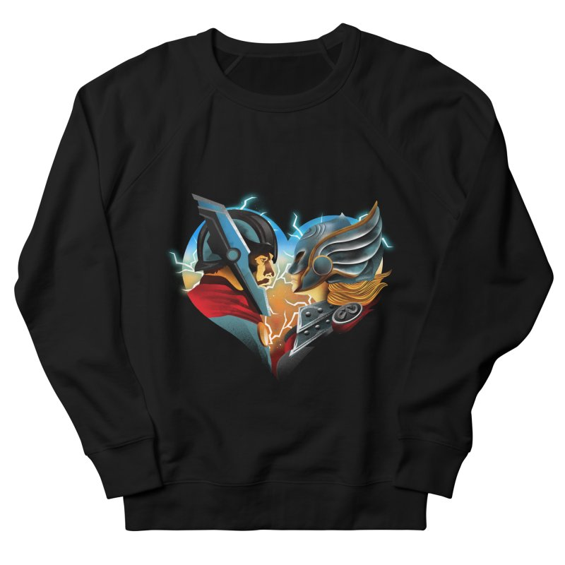 Love & Thunder Men's French Terry Sweatshirt by dandingeroz's Artist Shop