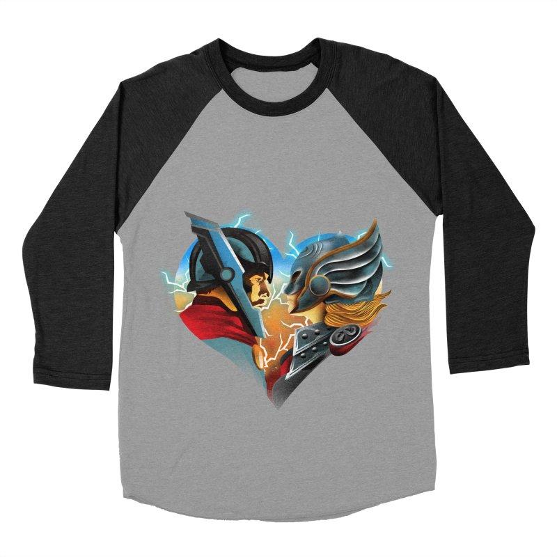 Love & Thunder Women's Baseball Triblend Longsleeve T-Shirt by dandingeroz's Artist Shop