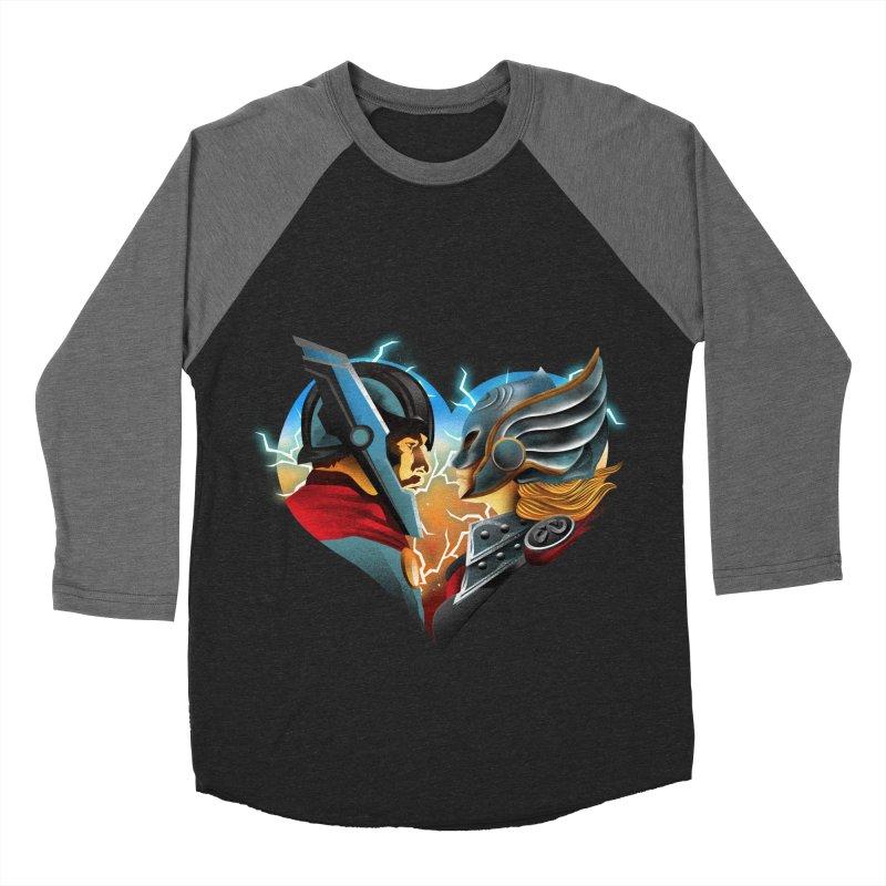 Love & Thunder Men's Baseball Triblend Longsleeve T-Shirt by dandingeroz's Artist Shop