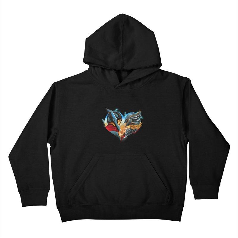 Love & Thunder Kids Pullover Hoody by dandingeroz's Artist Shop