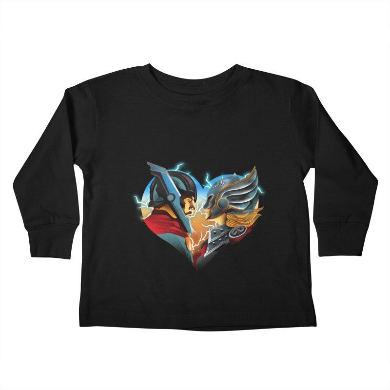 Love & Thunder Kids Toddler Longsleeve T-Shirt by dandingeroz's Artist Shop