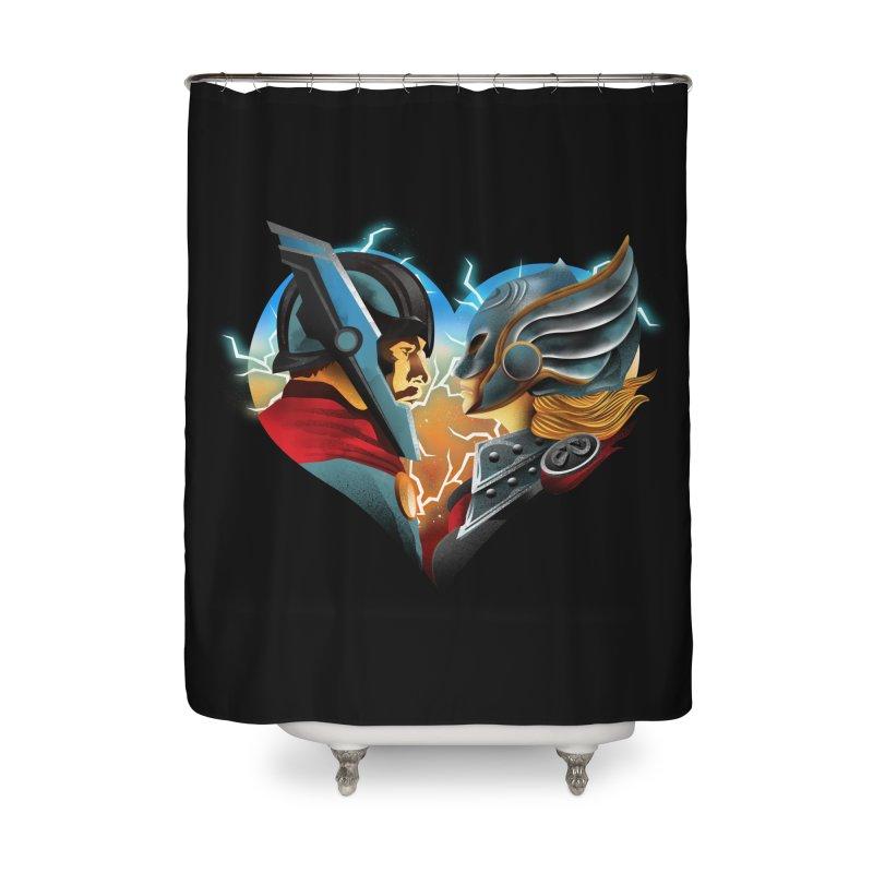Love & Thunder Home Shower Curtain by dandingeroz's Artist Shop