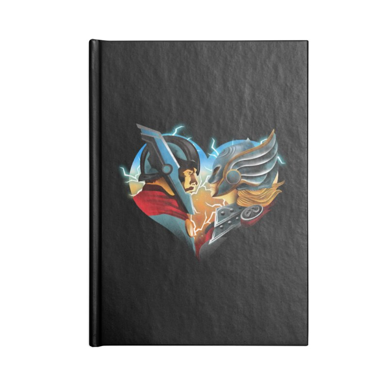 Love & Thunder Accessories Blank Journal Notebook by dandingeroz's Artist Shop