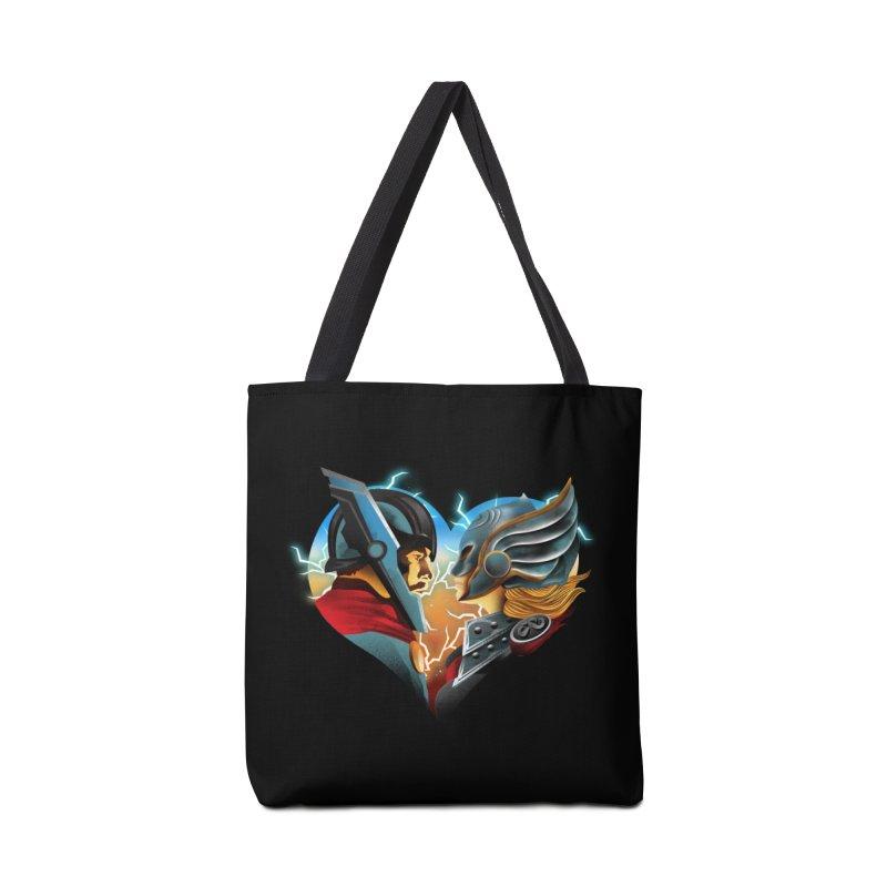 Love & Thunder Accessories Tote Bag Bag by dandingeroz's Artist Shop