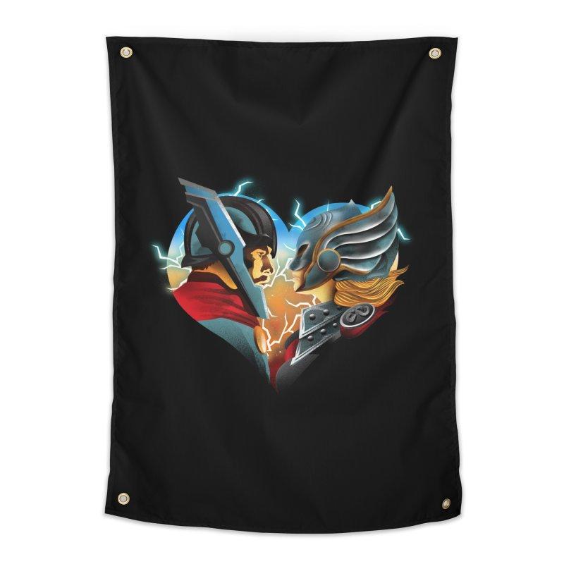 Love & Thunder Home Tapestry by dandingeroz's Artist Shop